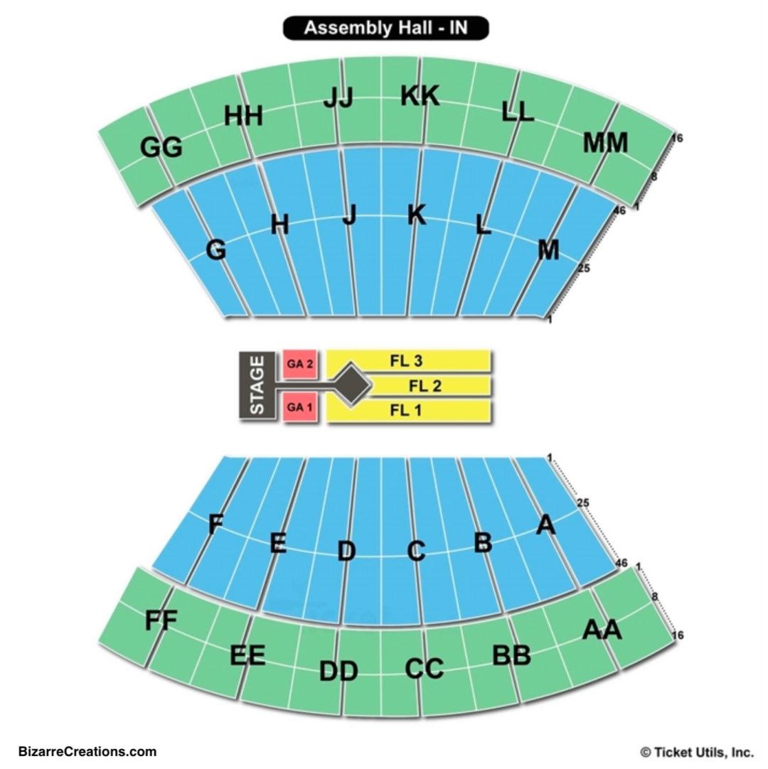 Simon Skjodt Embly Hall Seating Chart Concert