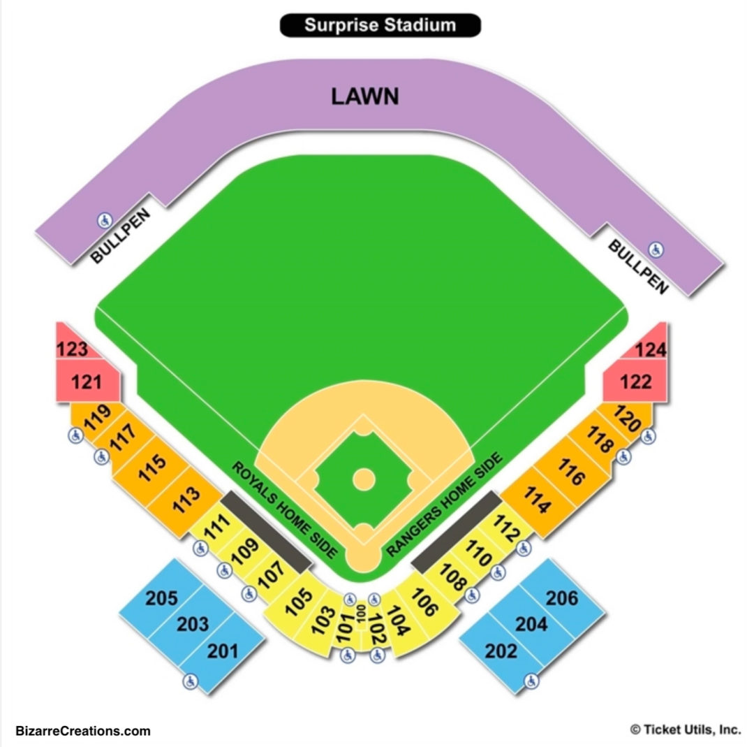 Surprise stadium seating chart seating charts tickets