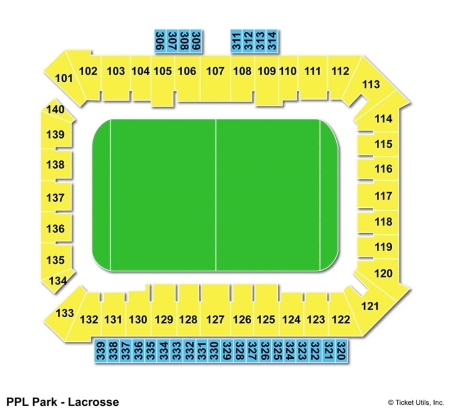 Talen Energy Stadium Seating Chart Lacrosse