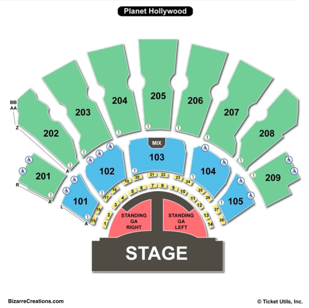Zappos Theater Seating Chart