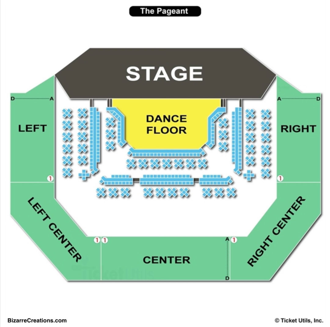 The pageant seating chart seating charts tickets