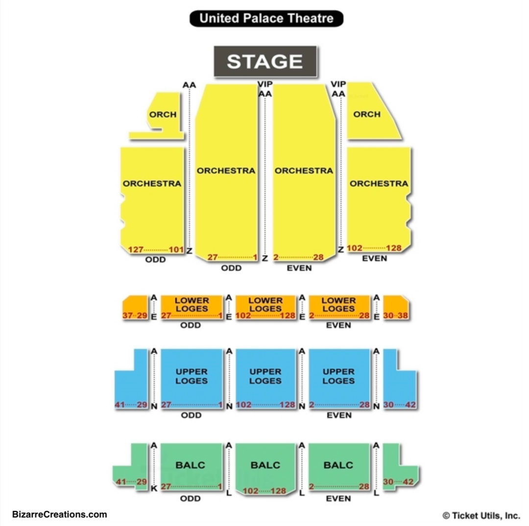 United Palace Theatre Seating Chart Seating Charts Tickets