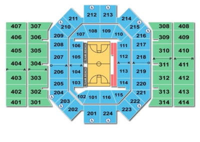 University Of Dayton Arena Seating Chart Basketball