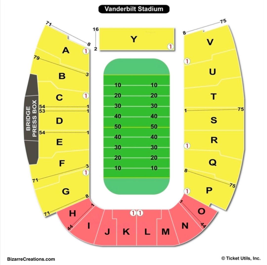Vanderbilt stadium seating chart seating charts tickets