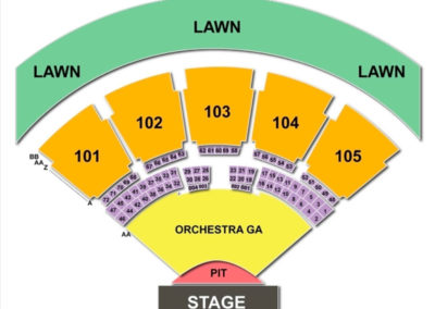 Verizon Amphitheatre Seating Chart Seating Charts Tickets