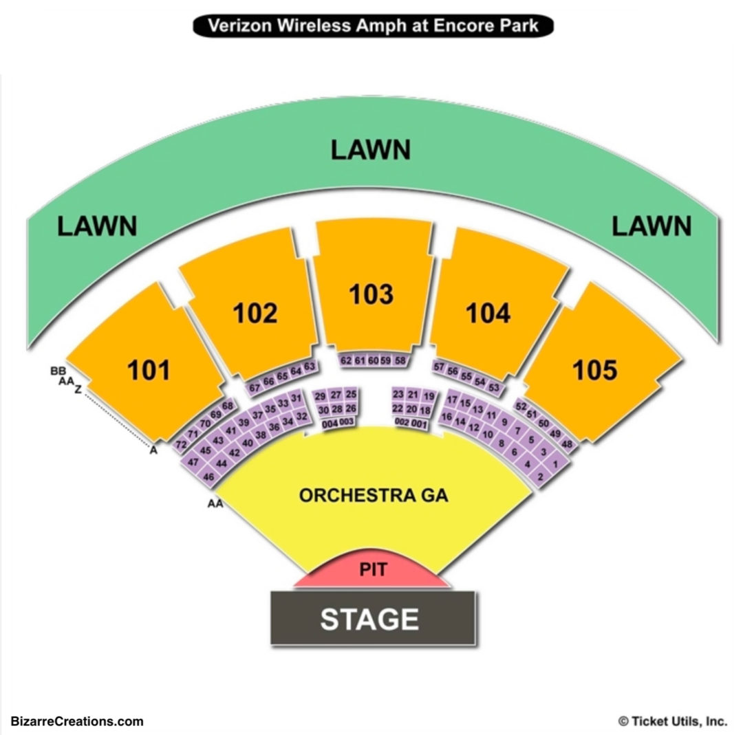 Verizon amphitheatre seating chart seating charts tickets