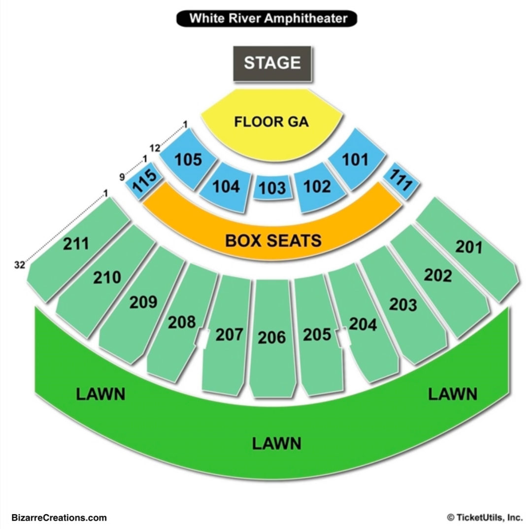 White river amphitheatre seating chart seating charts tickets