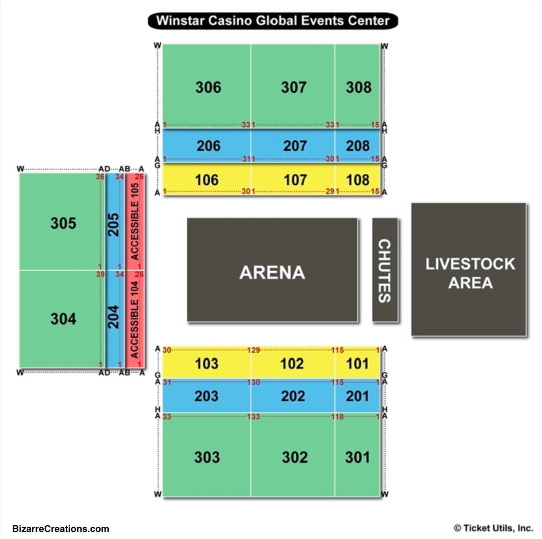 Winstar Casino Seating Chart Seating Charts Tickets