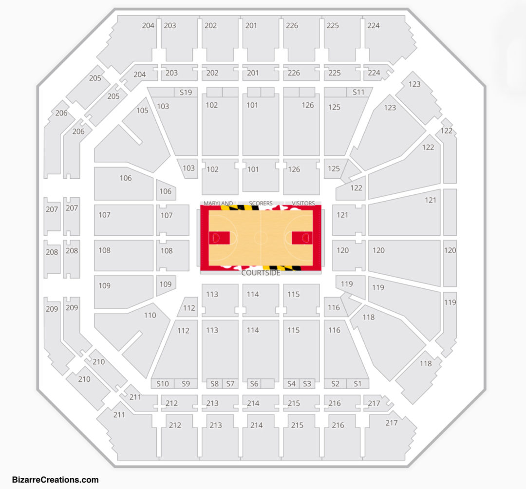 Xfinity Center Seating Chart College Park