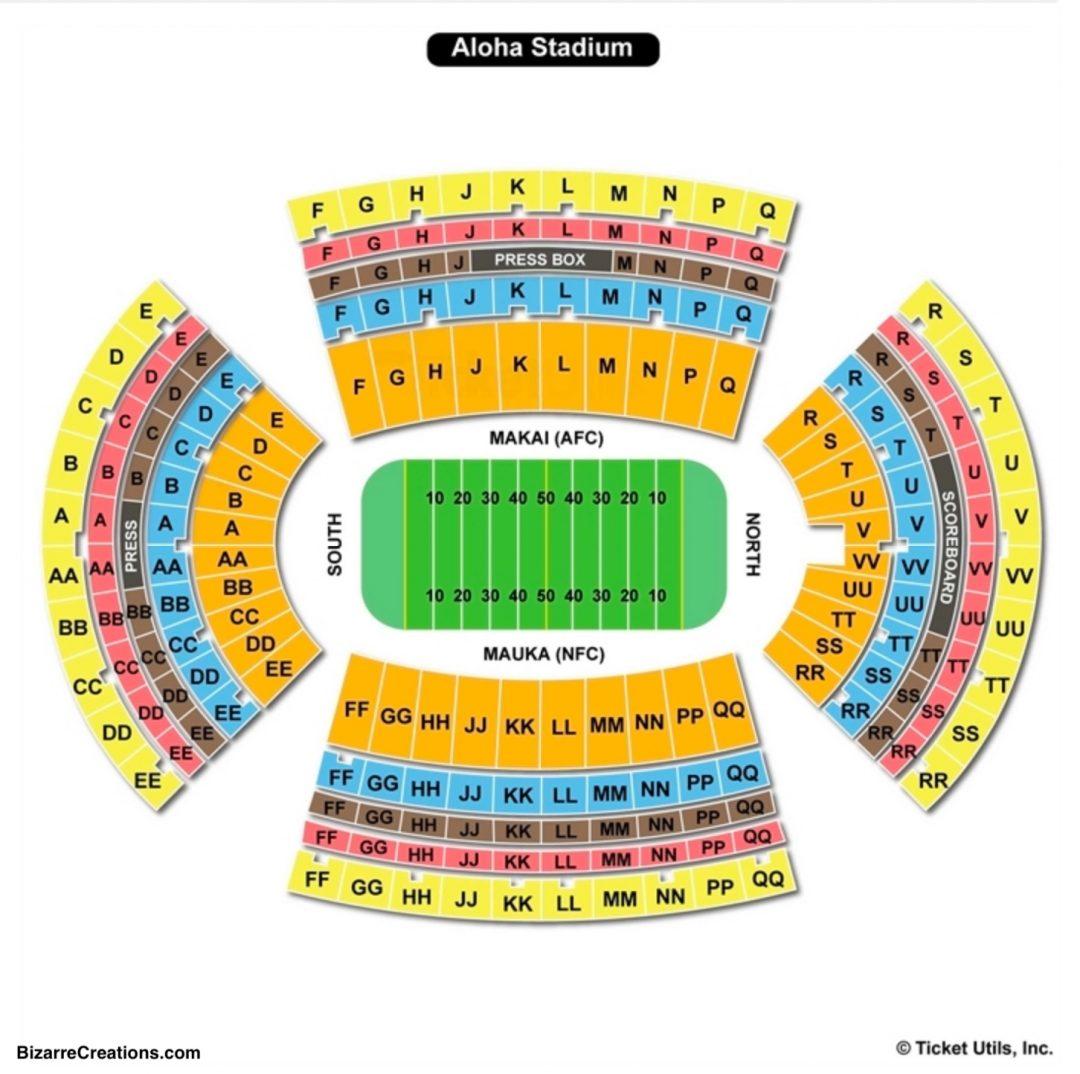 Warriors New Stadium Virtual Tour: Aloha Stadium Seating Rows
