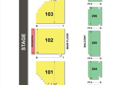 Arcada Theatre Seating Chart