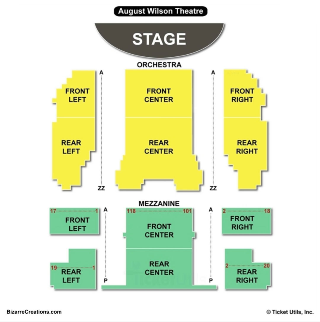 August Wilson Theatre Seating Chart   Seating Charts & Tickets