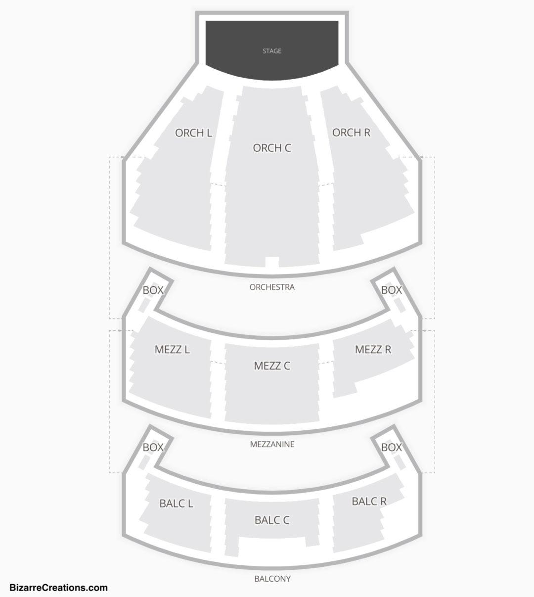 Belasco Theatre Seating Chart Concert
