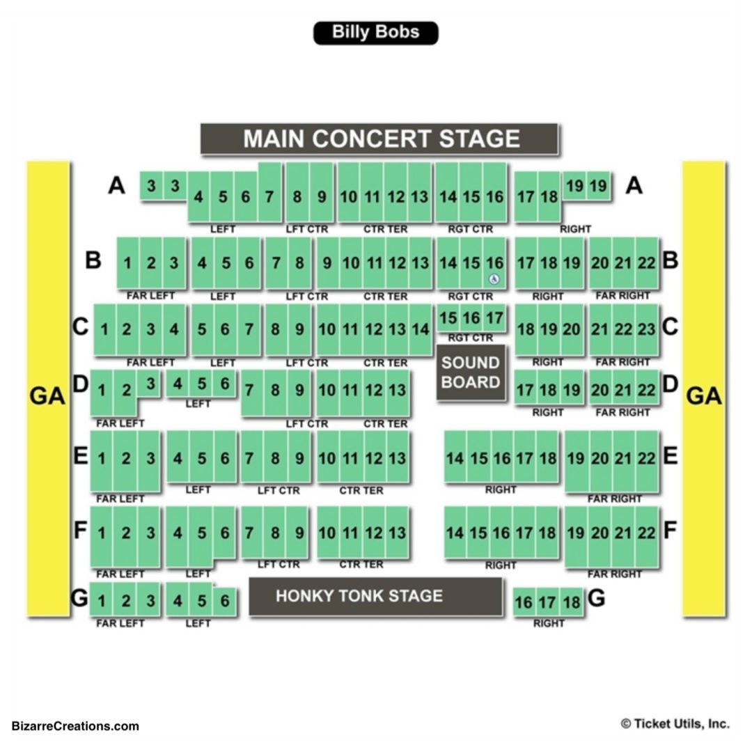 Billy Bob S Texas Seating Chart Seating Charts Amp Tickets