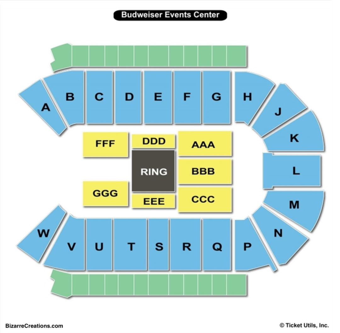Peterson Event Center Seating Chart Budweiser Events