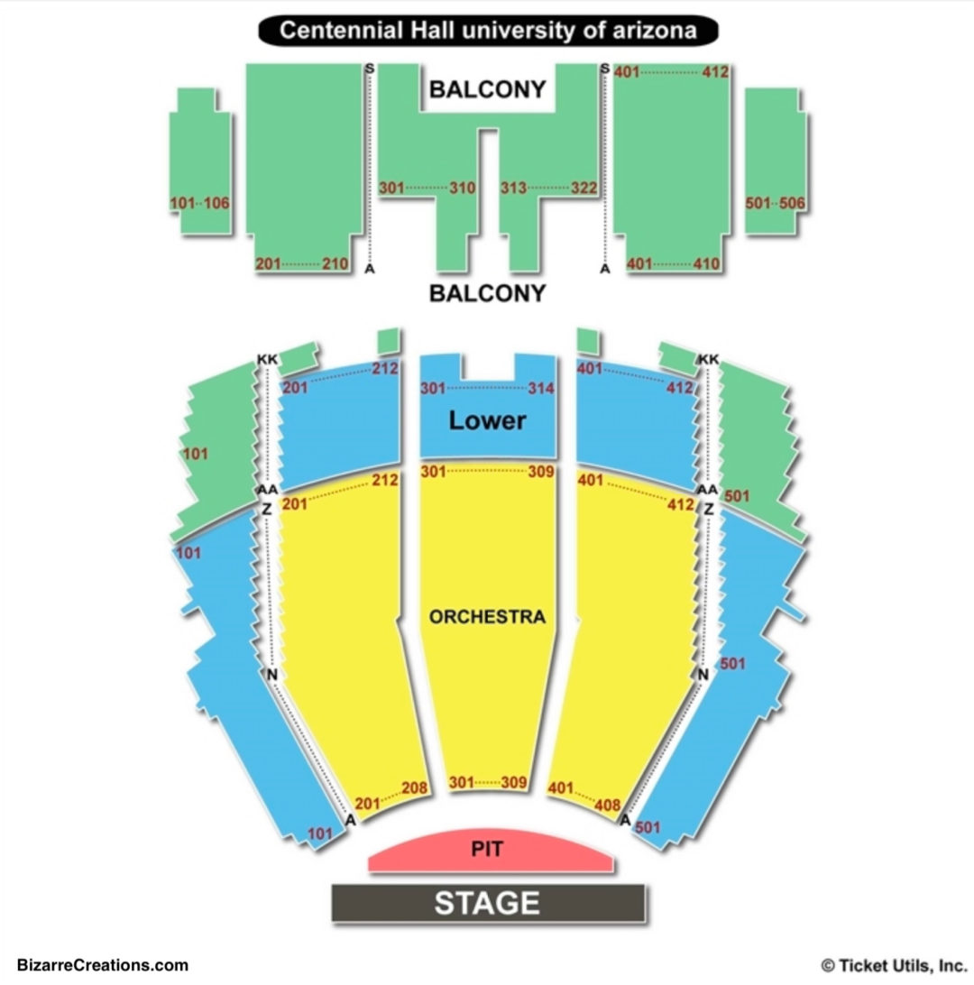 Centennial hall seating chart seating charts tickets