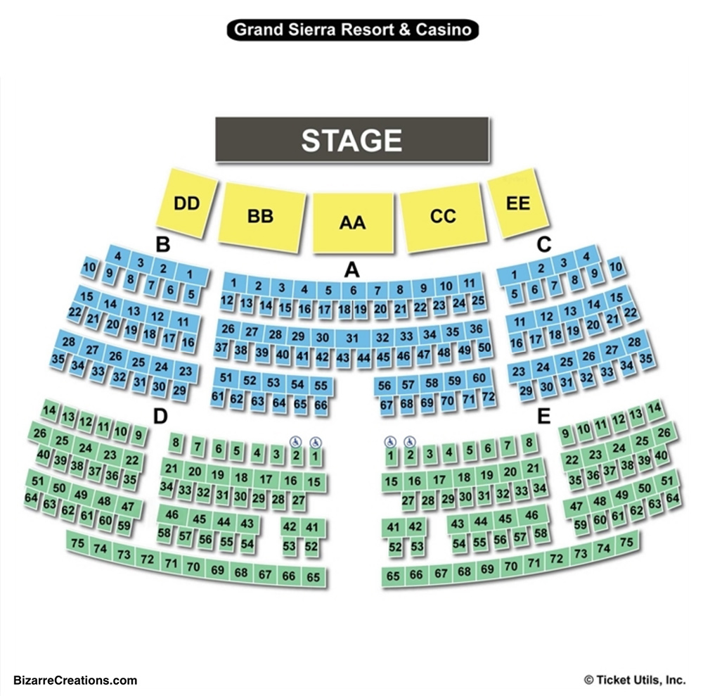 Grand Sierra Theatre Seating Chart Charts Tickets