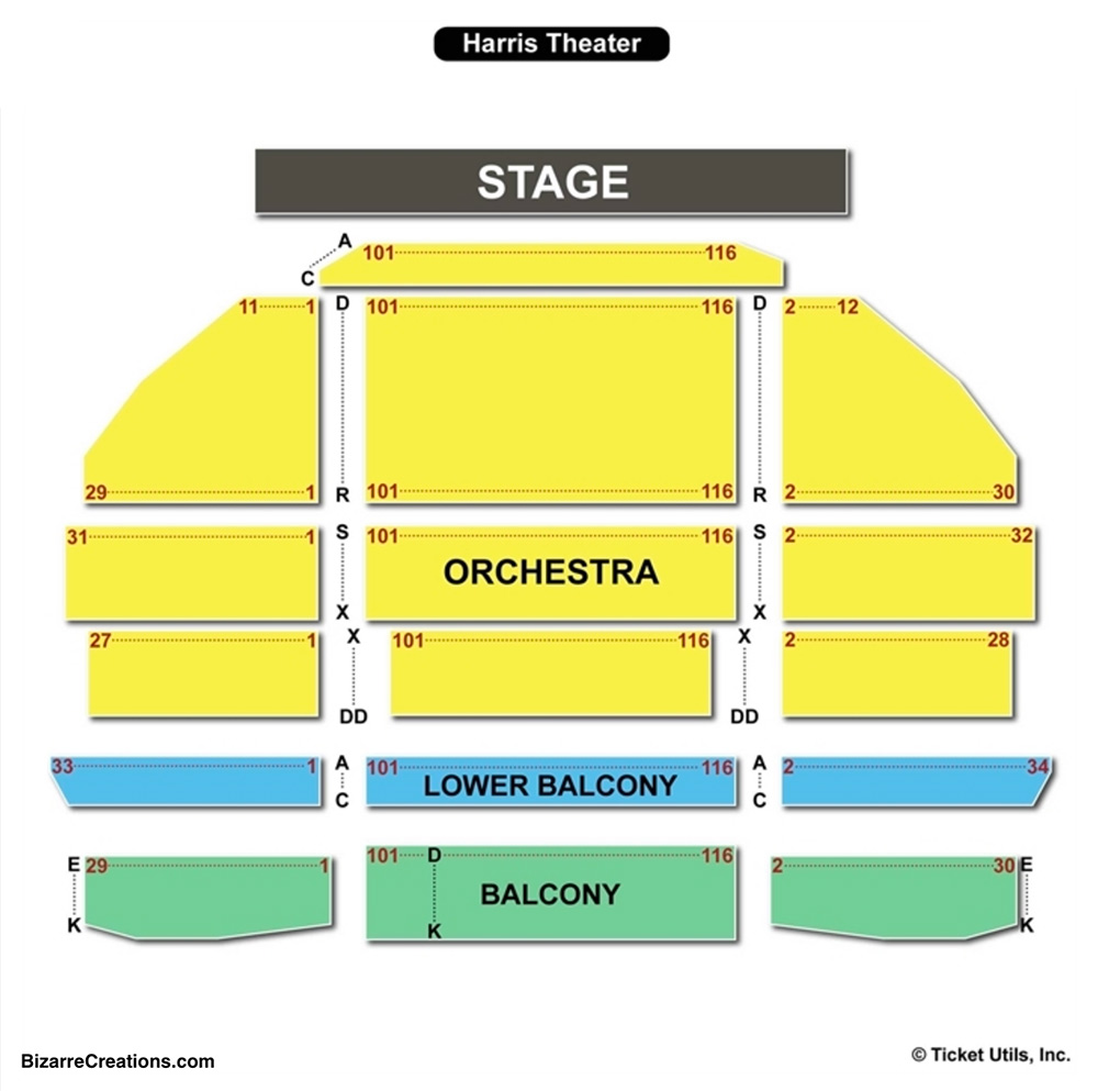 Harris theater seating chart seating charts tickets