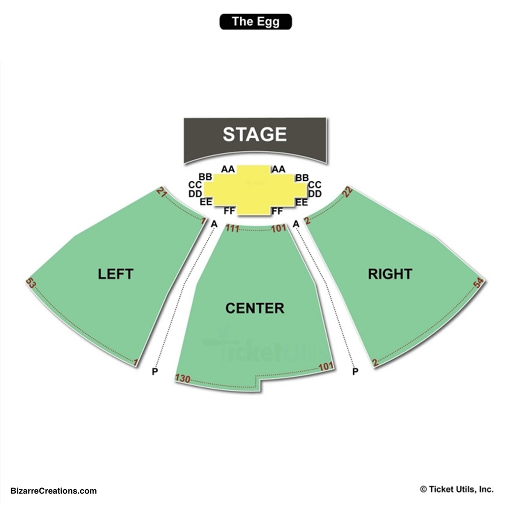 Hart Theatre At The Egg Seating Chart