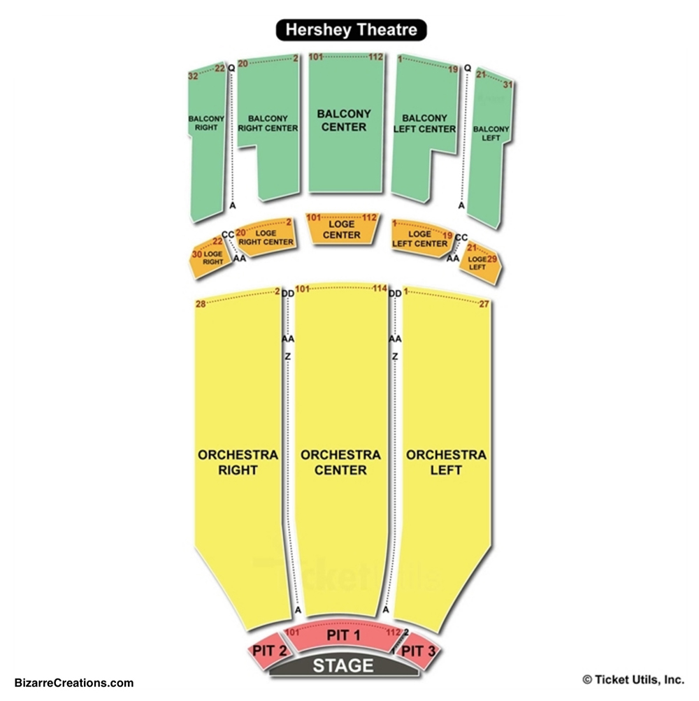 Hershey theatre seating chart seating charts tickets