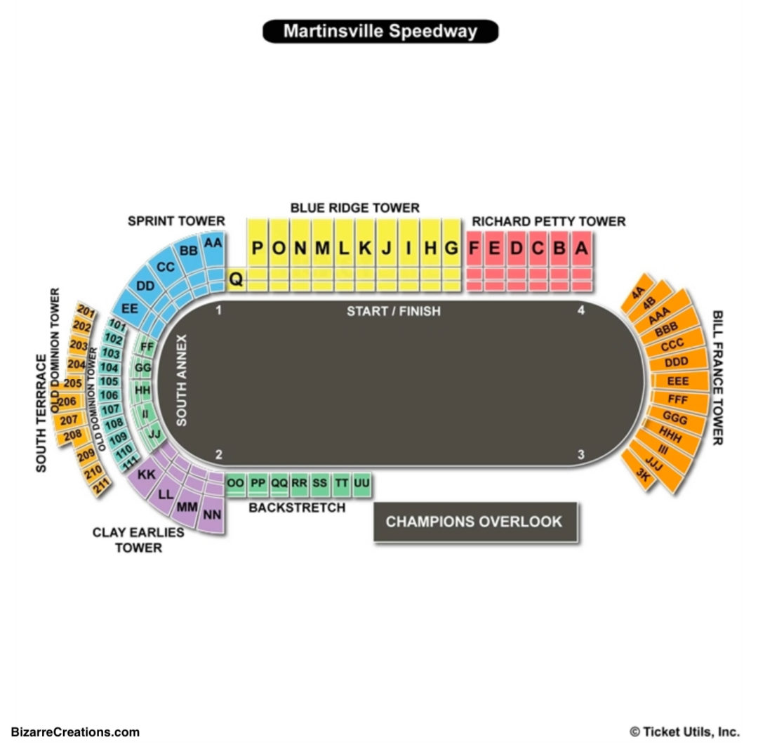 Martinsville Sdway Seating Chart