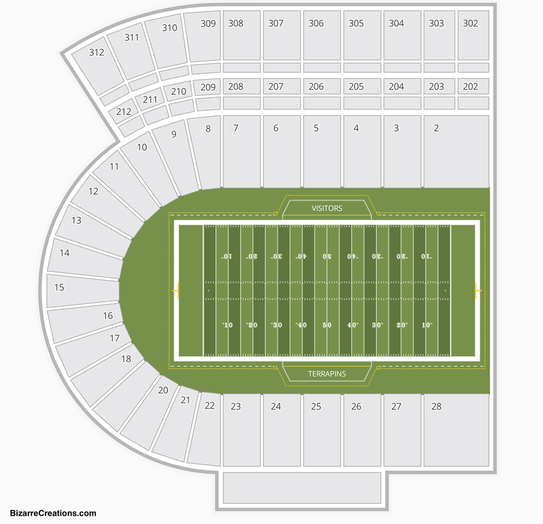 Maryland Stadium Seating Chart Seating Charts Tickets