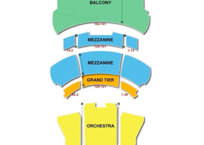 New York City Center Seating Chart Main Stage