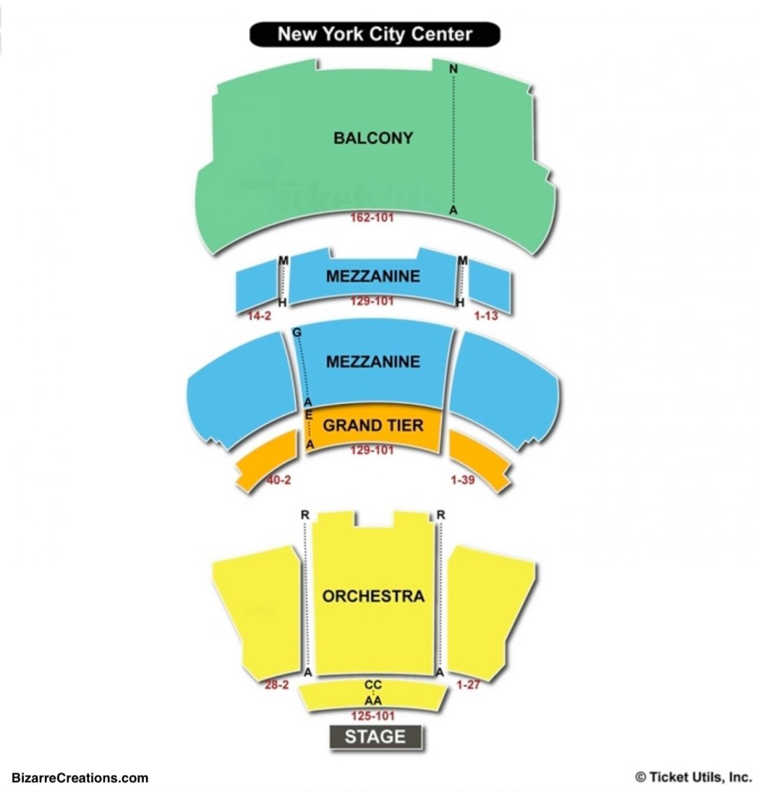 New york city center stage 2 seating chart seating charts tickets