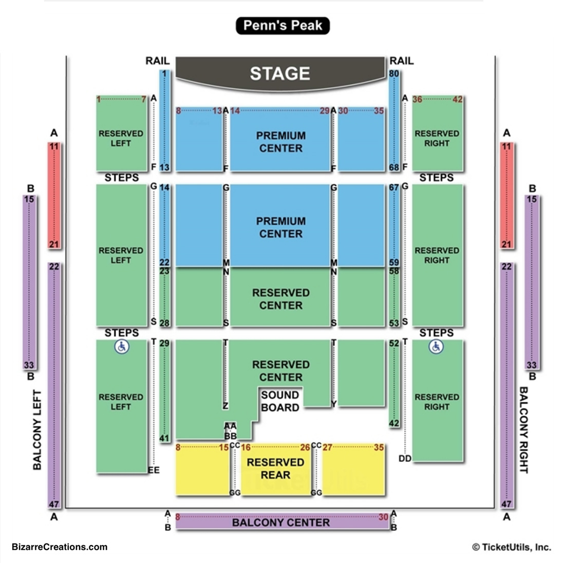 penns peak seating chart seating charts amp tickets