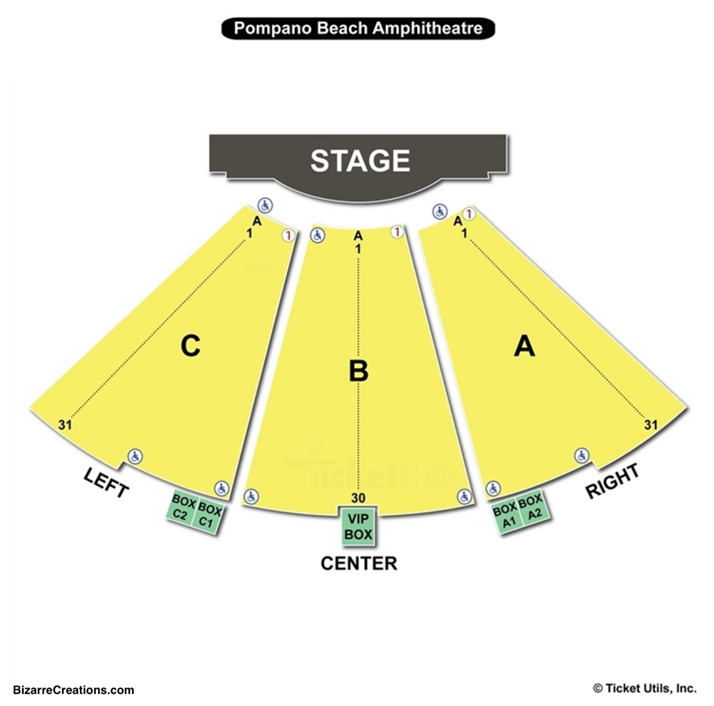 Pompano Beach Amphitheater Seating Chart Charts Tickets