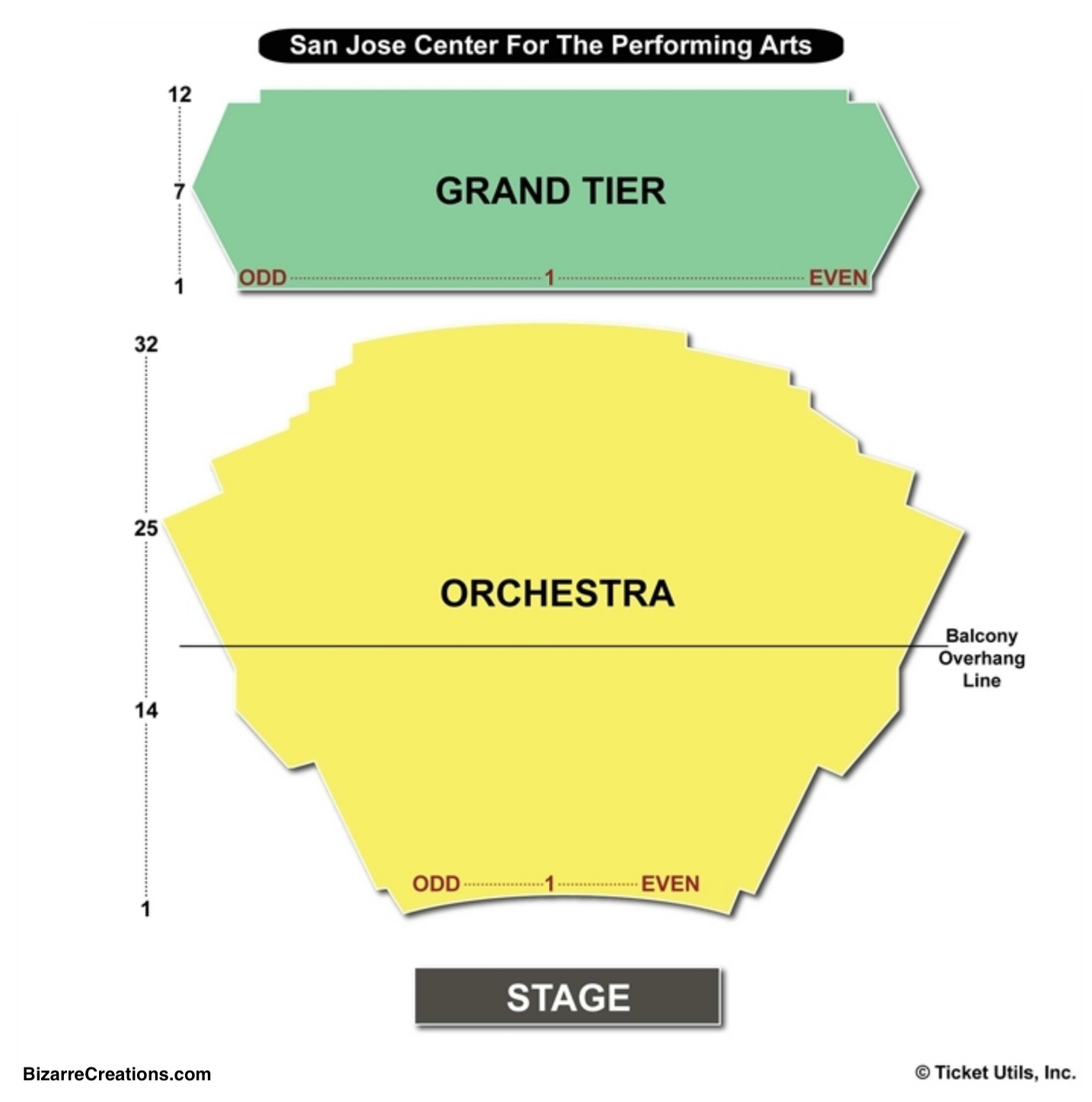 Performing Arts: San Jose Center For The Performing Arts Seating Chart
