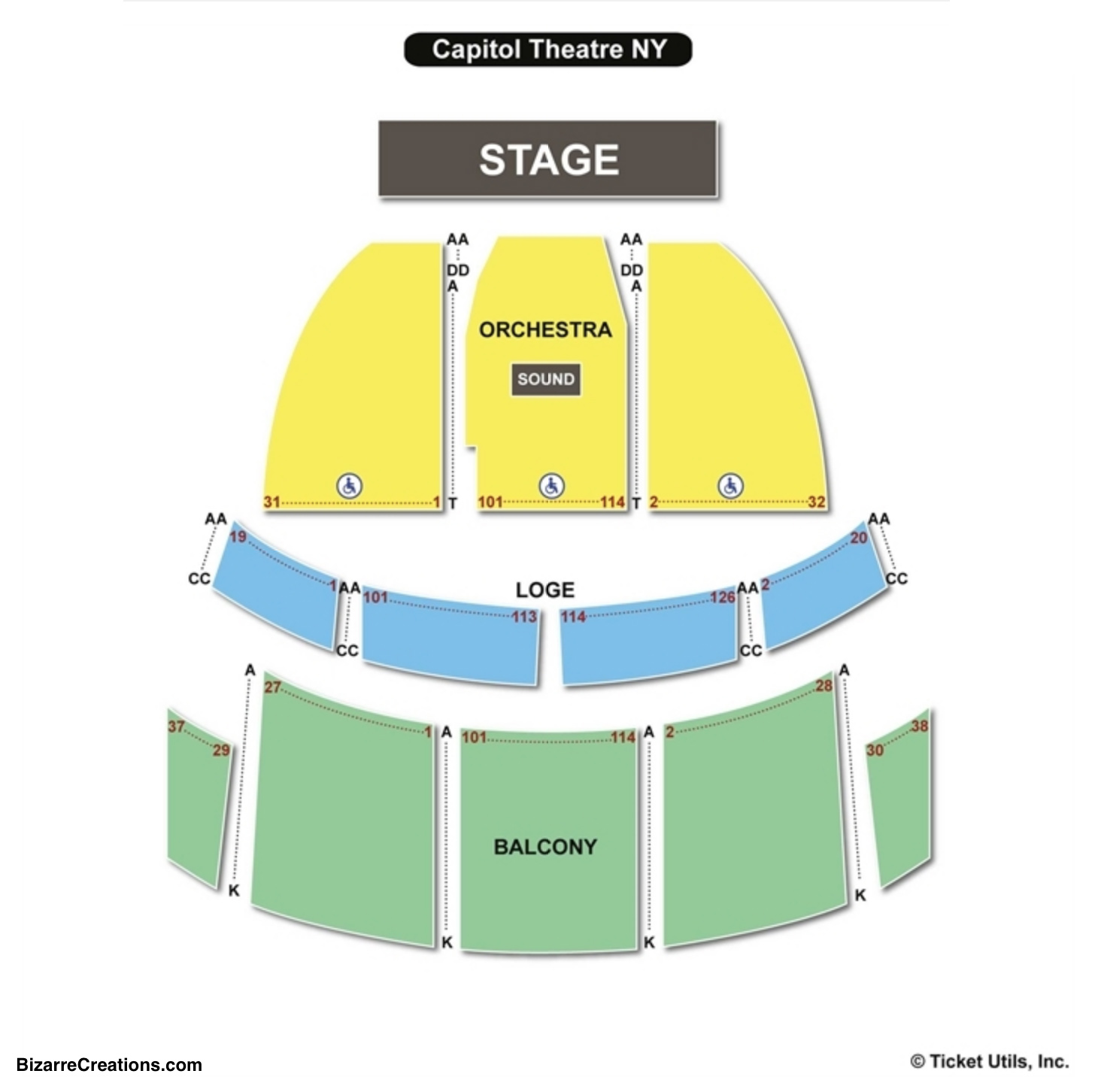 the capitol theatre port chester seating chart seating charts tickets. Black Bedroom Furniture Sets. Home Design Ideas