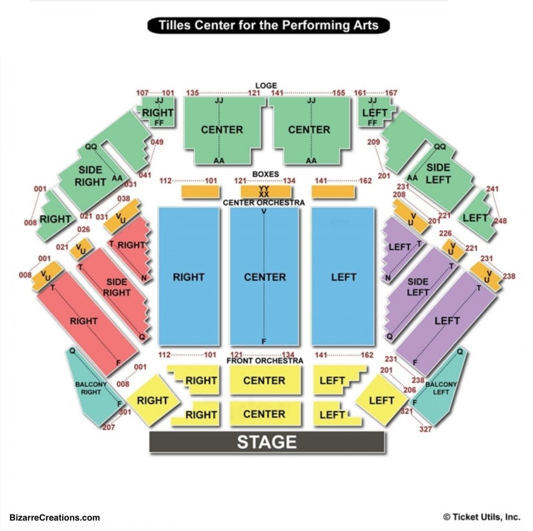 Tilles Center Seating Chart Charts Tickets