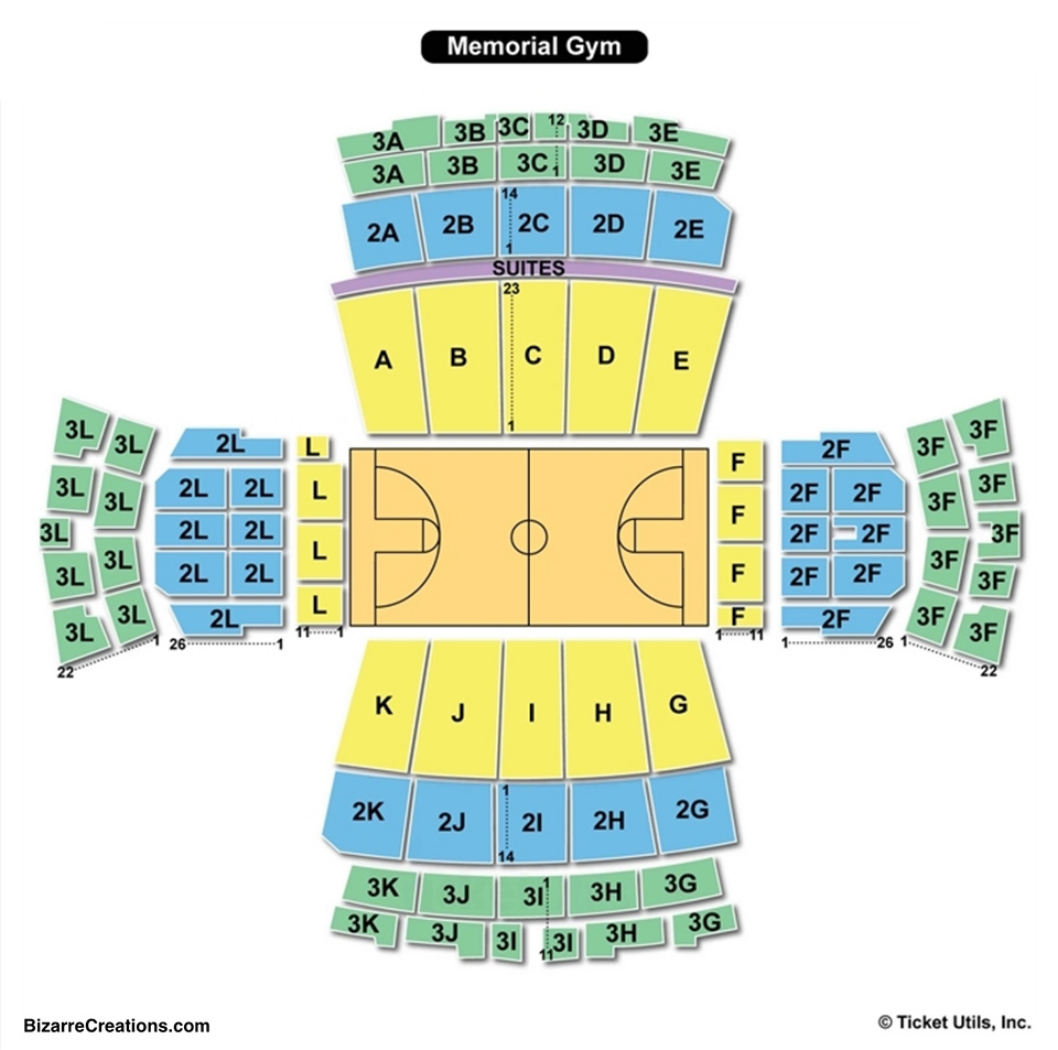 Vanderbilt Memorial Gymnasium Seating Chart