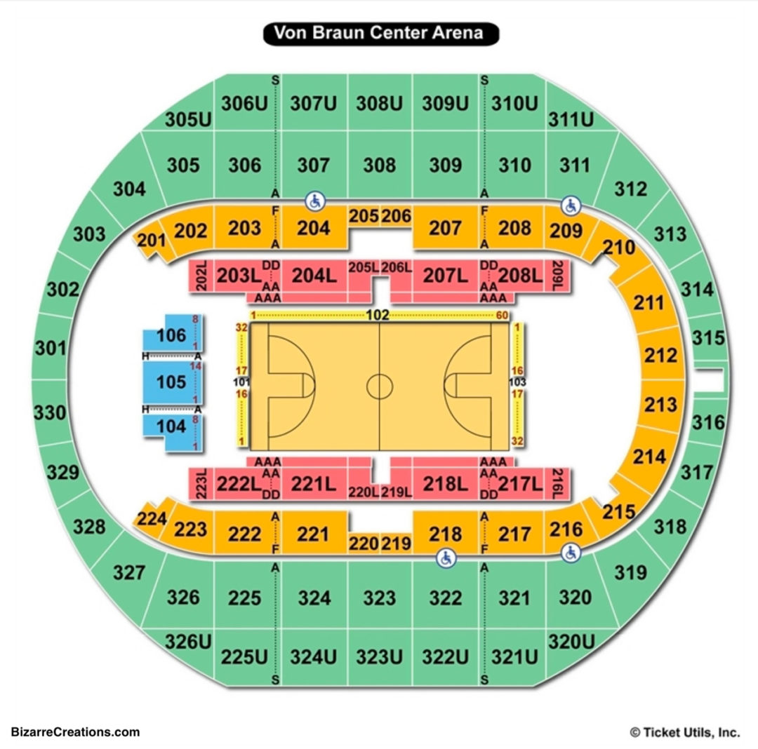 Von Braun Center Propst Arena Seating Chart | Seating ...