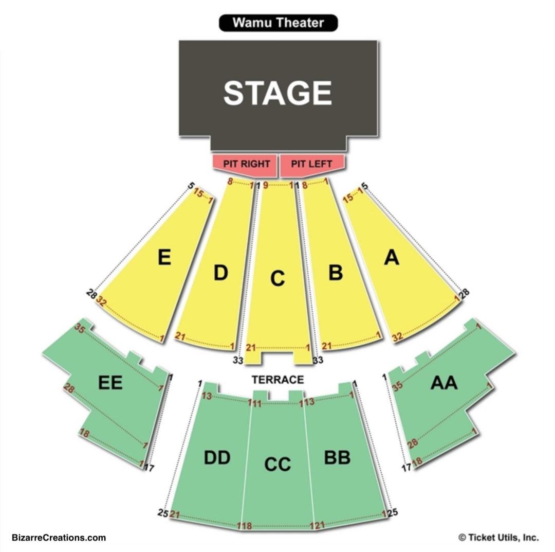 Wamu theater seating chart seating charts tickets