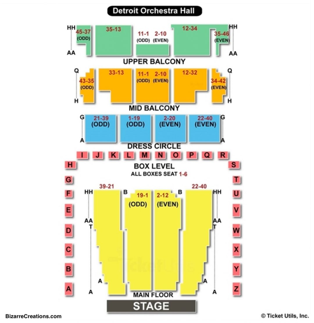 Detroit Symphony Orchestra Seating Chart Wwwtopsimagescom - Arlene schnitzer hall seating chart