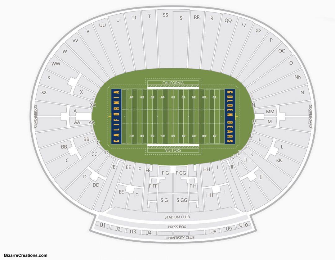 California Memorial Stadium Seating